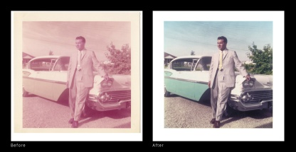 Before After - Dad car