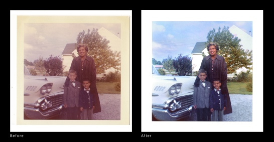 Before After - Mom car