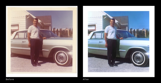 Before and After - Dad 63 Chevy